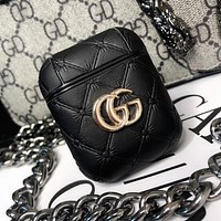 GUCCI Fashionable AirPods Bluetooth Wireless Earphone Case Protector (No Headphones) Black