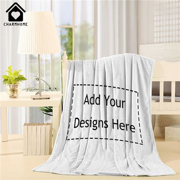 Customize Home Throw Blanket Bed Sofa Couch Blanket Baby Personalized Indoor Outdoor Blankets Good Gift For Children Man Woman