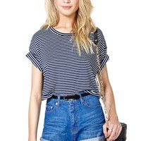Sail Away Crop Tee