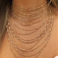 Layers Of Gold Necklace: Gold