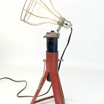 Industrial Lighting, Industrial Lamp, Car Enthusiast, Man Cave Lighting, Gifts for Mechanics, Unique Desk Lamp, Reclaimed Lighting