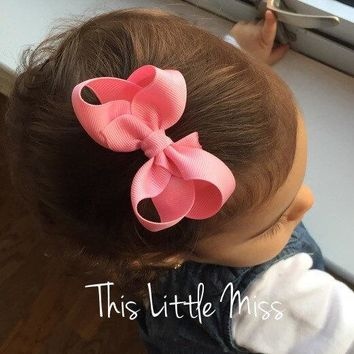 12 Colors Tie Bow Kont Hair Clip Kids Lovely Bowknot Hair Accessories Bow Headwear Hairpins EASOV W115
