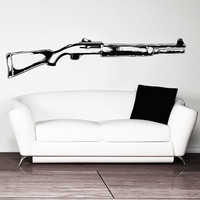 Vinyl Wall Decal Sticker Tactical Shot Gun #1333