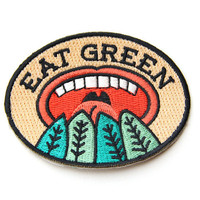Eat Green Iron On Patch