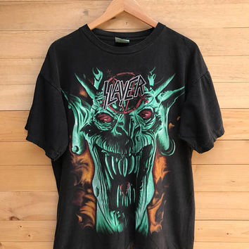 Rare! Vintage 90s Slayer T Shirt Band Tee Size Large