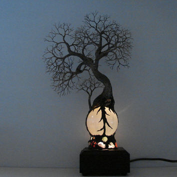 Full Moon Rising Tree Of Life Duo Spirits by CrowsFeathers on Etsy