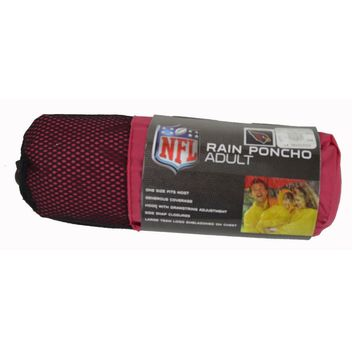 Licensed Official New NFL 32 Teams Available Reusable Adult Rain Poncho Hooded & Storage Pouch