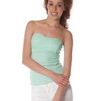 Lacy Strapless Top - Mint at Lucky 21 Lucky 21