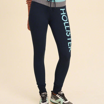 Girls Graphic Fleece Leggings | Girls Bottoms | HollisterCo.com