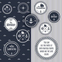 SALE  nautical nautical paper digital paper by PaperPrintsDesign