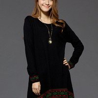 National Style Hot Sale Black Ladies Sweaters : Wholesaleclothing4u.com