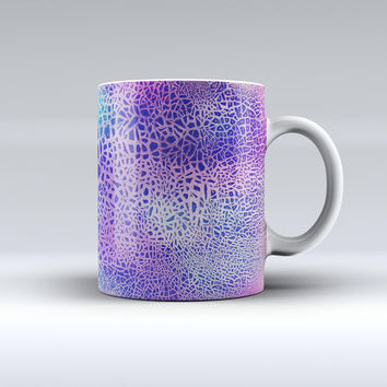 The Cracked Purple Texture ink-Fuzed Ceramic Coffee Mug