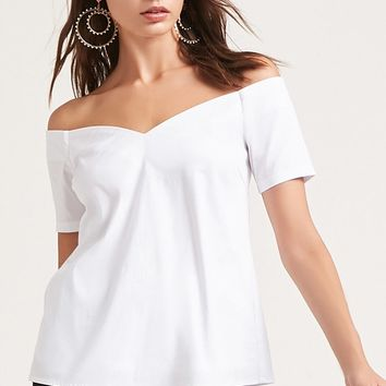 Off-the-Shoulder V-Neck Top