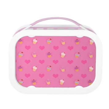 Pink Cupcake Pattern Replacement Plate