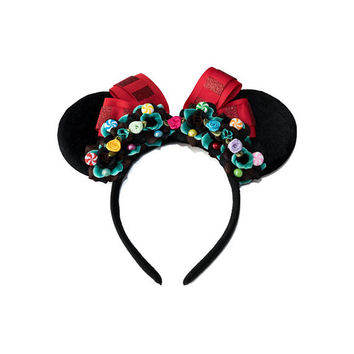 Vanellope Mouse Ears Headband, Vanellope Von Schweetz, LED Headband, Flower Mouse Ears, Minnie Ears Headband, Mickey Ears Headband