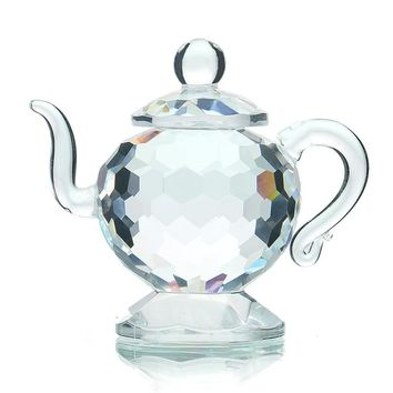 Crystal Teapot Figurines Paperweight Crafts Art&Collection Souvenir Birthday Christmas Gifts Wedding/Home Decoration