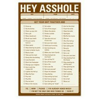 Hey Asshole Pad ? Funny Notepad by Knock Knock