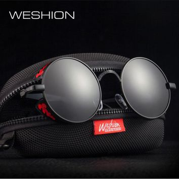 Steampunk Sunglasses Goggles Polarized Men Women Round Sun Glasses Gothic Eyewear Alloy Frame High Quality Deal With It 2018