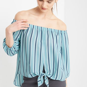 Milan Striped Off the Shoulder Top