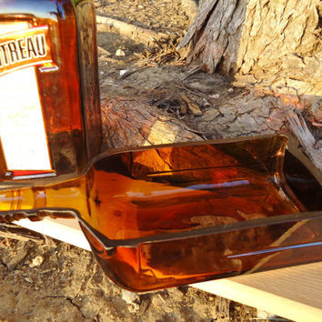 Recycled Cointreau Bottle Spoon Rest / Serving Tray for Cheese, Olives, Dips and Salsa