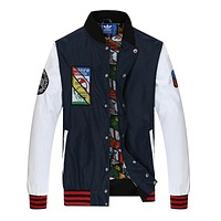 "Love Q333 ""Adidas"" Women Men Unisex Cardigan Jacket Coat"