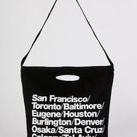 Bull Denim Woven Cotton Cities Bag with Strap | American Apparel