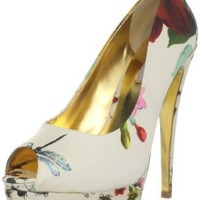 Ted Baker Women's Carlina Peep-Toe Pump