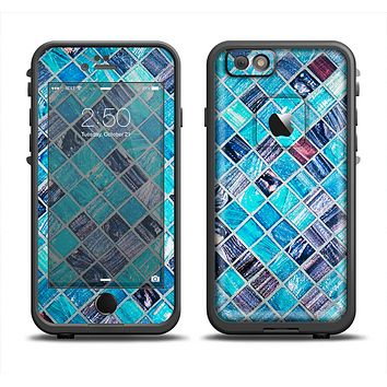 The Vibrant Blue Glow-Tiles Apple iPhone 6 LifeProof Fre Case Skin Set