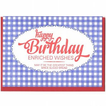 Bread Bag Enriched Wishes Birthday Card