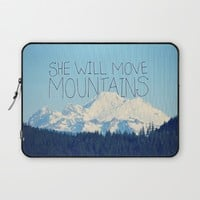She Will Move Mountains Laptop Sleeve by RDelean