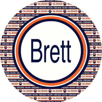 Personalized Chicago Bears inspired Football room sign. Baby or Birthday gift. Hospital and Nursery door! Monogram or Name - 3 backgrounds.
