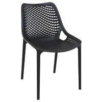 Air Outdoor Dining Chair Black (Set of 2)