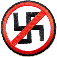 Anti Racism Nazi Punks SHARP Iron On Embroidered Patch