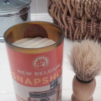 New Belgium --- SNAPSHOT --- Wheat Beer Shaving Mug with Cedar Lavender Shaving Soap