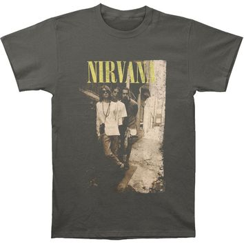 Nirvana Men's  Brick Wall Alley Photo Regular Mens T-shirt Charcoal