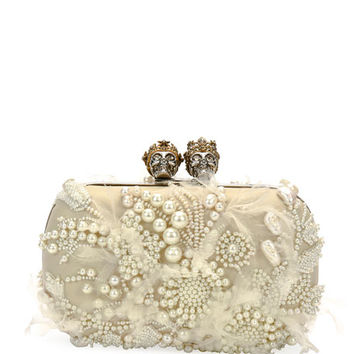 Alexander McQueen Queen & King Beaded Clutch Bag