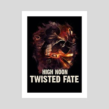 High Noon Twisted Fate, an art print by Dusan Naumovski