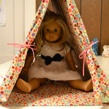 "American Girl and 18"" Doll Tent and matching Pillow"