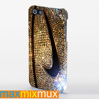 Nike Glitter Logo iPhone 4/4S, 5/5S, 5C Series Full Wrap Case