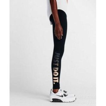 ESBONQK NIKE LEG-A-SEE JUST DO IT METAL WOMEN RUNNING TIGHTS