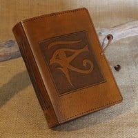 Standard - Eye of Horus Hand Bound Leather Journal