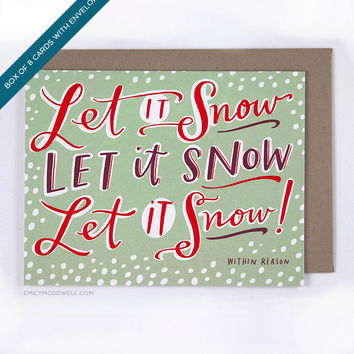 Let It Snow Holiday Card, Box of 8