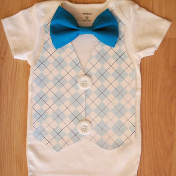 Boys cake smash outfit Baby tuxedo Boy first birthday outfit Baby boy take home outfit Little man birthday 1st Birthday outfit boys Argyle