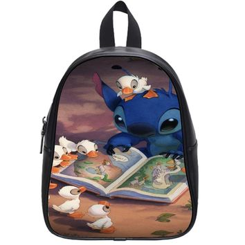 Disney Stitch And Duck School Backpack Large