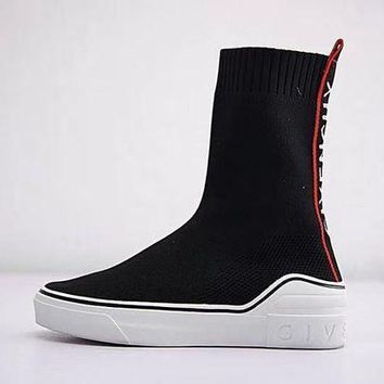 Givenchy George V Mid Sock Sneaker Knit High Socks Shoes