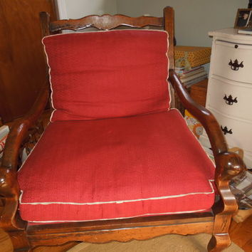 Upholstered Chair French Country Bergere