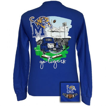 Memphis Tigers Tailgates & Touchdowns Party Long Sleeve T-Shirt