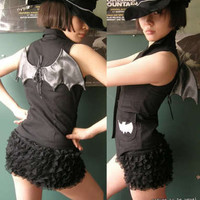 Gothic Lolita 9 Tiered Layer Lace Lined Bloomer Lingerie Under Shorts Hip Hugger
