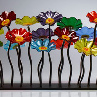 Prism Colored Garden Table Centerpiece by Scott Johnson: Art Glass Sculpture | Artful Home