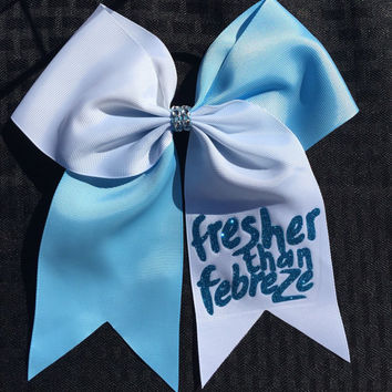Softball Bow / Cheer Bow / Volleyball Bow / Fresher Than Febreeze Hair Bow
